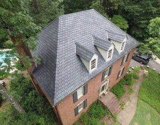 Brava synthetic slate roof