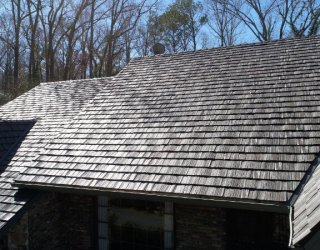 finished shake roof
