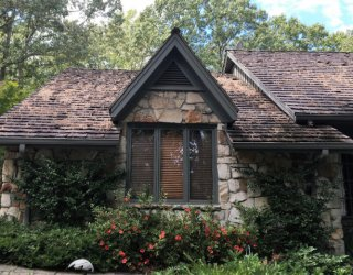 old cedar shake roof