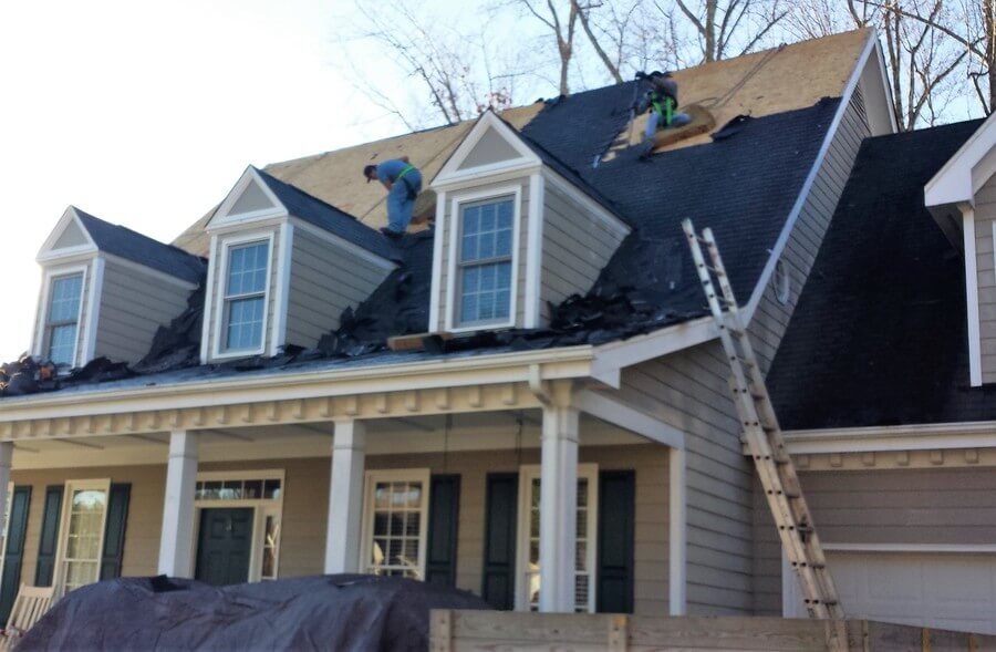 Hail Damage Roof Restoration In Raleigh North Carolina