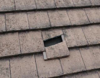 hail damage tile roof