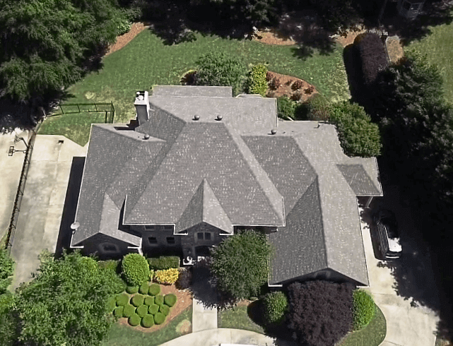 new asphalt roof replacement