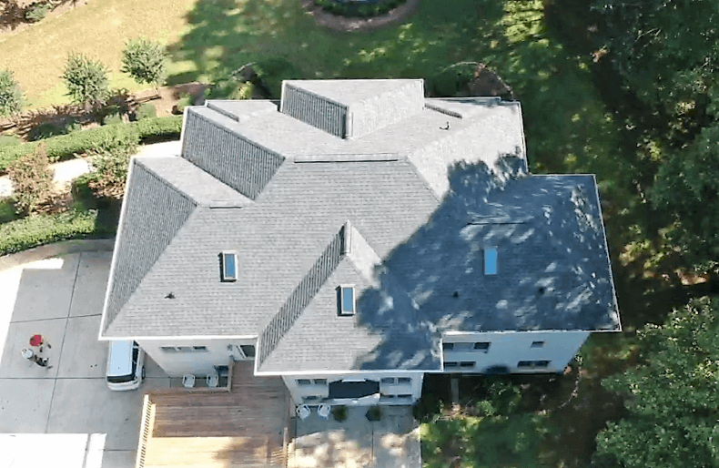 drone photo roof top