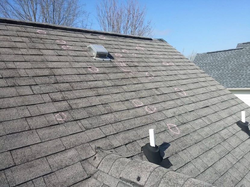 hail storm roof damage inspection