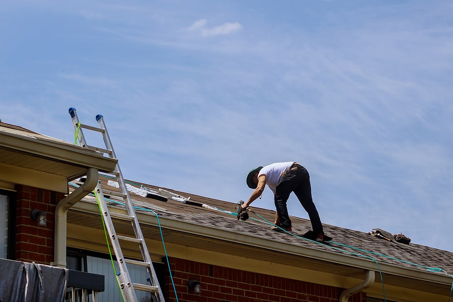 roof being repaired